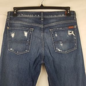 7 for all Mankind mens 32 X 32 distressed jeans